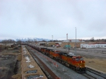 BNSF GRAIN TRAIN (DETOURING) MARCH 7,2010 PROVO,UTAH.
